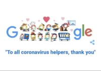 Doodle from Google thank you coronavirus helpers