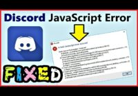 How do I fix a discord JavaScript error?